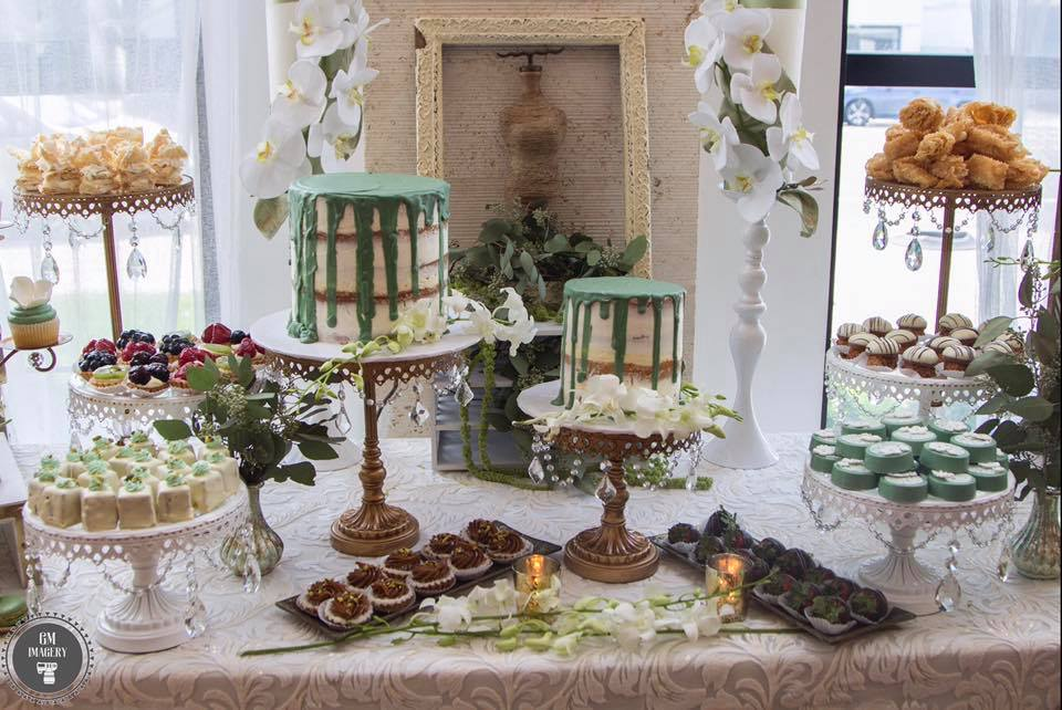 Serene green bridal shower
